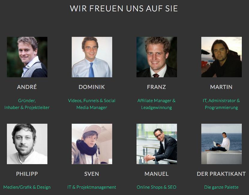 """Team PNA International um André Hunziker unterstützt Sie auf Ihrem Weg zu """"Mehr Umsatz mit automatisiertem Digital Marketing & Vertrieb der Zukunft - Mehr Kunden, mehr Freizeit, mehr Geld!"""""""
