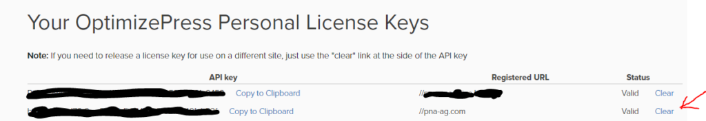 OP API key