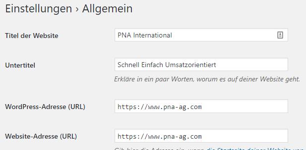 WordPress Allgemein
